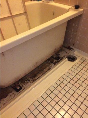 浴室クリーニング 作業前